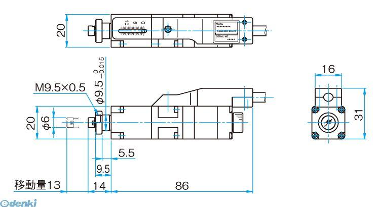 シグマ光機 SGSP-13ACT-BO 小型アクチュエータ SGSP-13ACT-B0