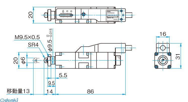 シグマ光機 SGSP-13ACTR-BO 小型アクチュエータ SGSP-13ACTR-B0
