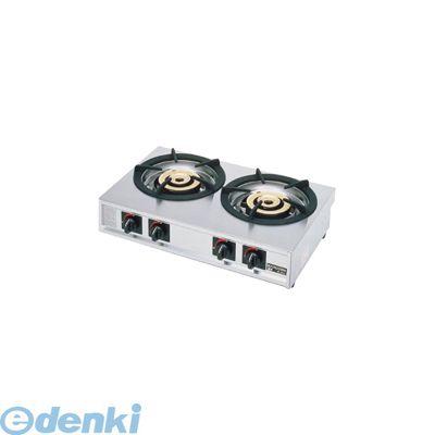 [DKV7501] ガステーブルコンロ 親子 二口コンロ M-222C LPガス 4905001254871