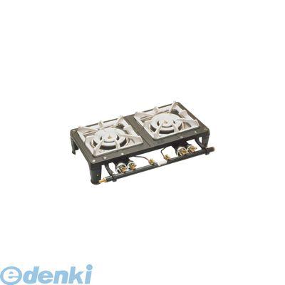 [DKV4601] テーブルコンロ MD-702 2連・マッチ点火   LPガス 4582225503536