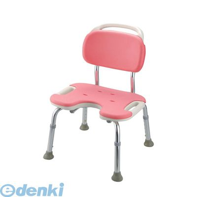 VSY0502 やわらかシャワーチェア ピンク U型背付ワイド 4973655494516【送料無料】