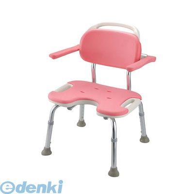 VSY0602 やわらかシャワーチェア ピンク U型肘掛付ワイド 4973655494615【送料無料】
