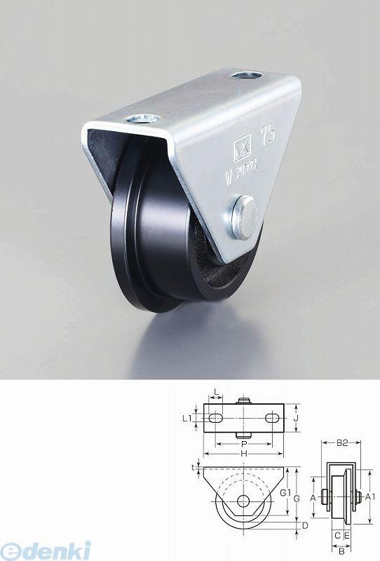 【個人宅配送不可】 EA986VD-150 直送 代引不可・他メーカー同梱不可 150mm/2200kg 【L型】重量戸車 EA986VD150【キャンセル不可】