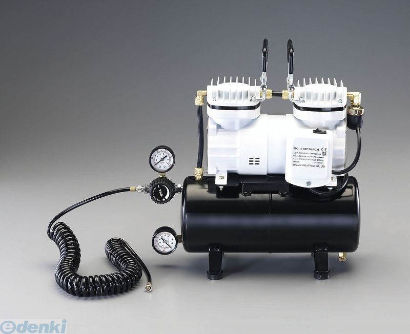 【個人宅配送不可】 EA116ST 直送 代引不可・他メーカー同梱不可 AC100V/125W エアーコンプレッサー/3.5Lタンク【キャンセル不可】