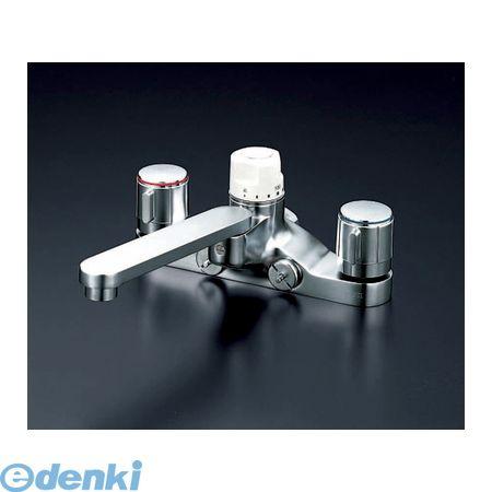 配送員設置 寒 KVK デッキ定量2ハンドル混合栓:測定器・工具のイーデンキ KM296Z-DIY・工具