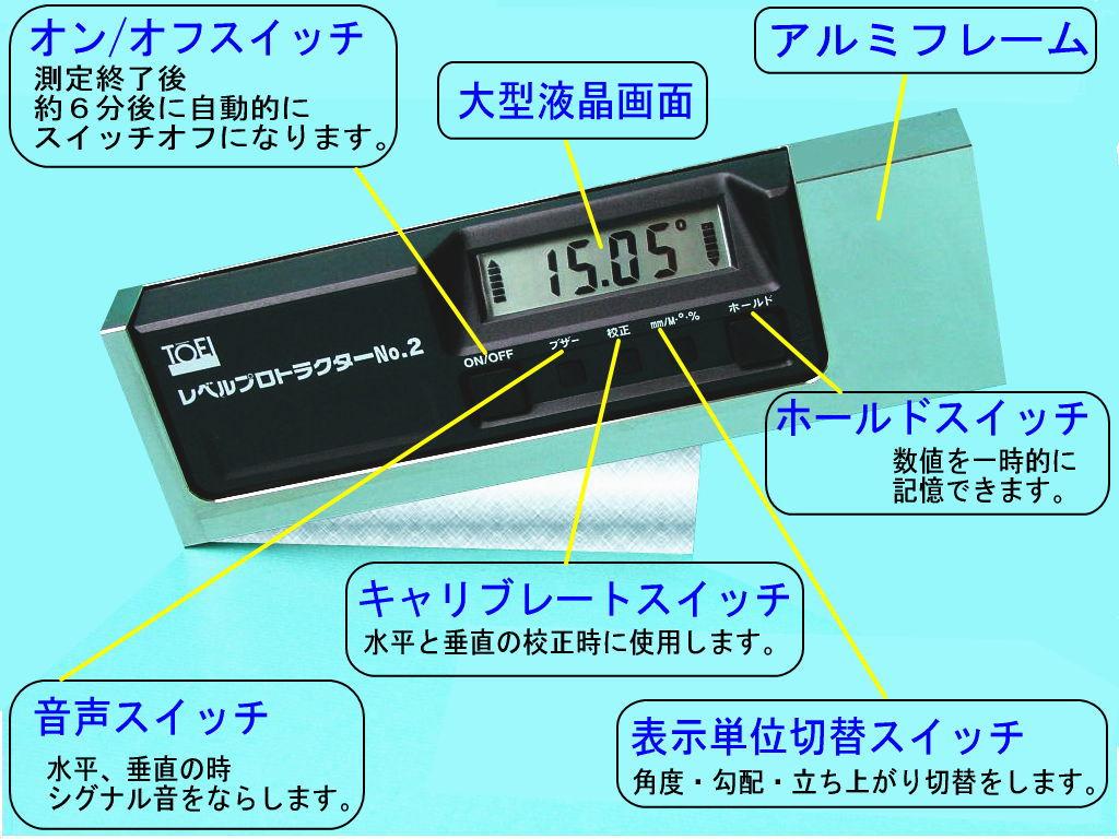 東栄工業 レベルプロトラクターNo.2 レベルプロトラクターNo.2