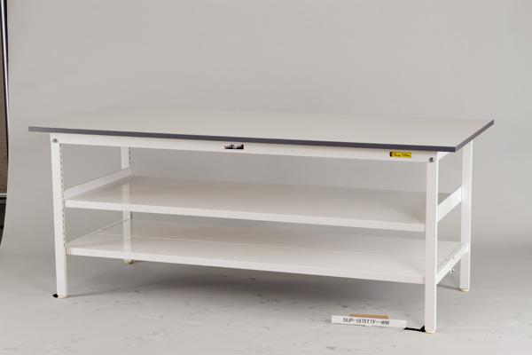 山金工業 [SUP-945TF-WW] 「直送」【代引不可・他メーカー同梱不可】ワークテーブル 作業台 150シリーズ (中間棚板付) (W900*D450*H740) SUP945TFWW