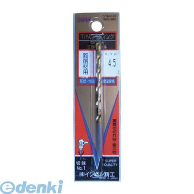 イシハシ精工 IS TCOD-4.3 TINコバルト正宗ドリル 4.3mm 10入 TCOD4.3