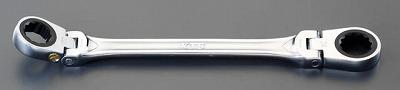 【個人宅配送不可】 EA602CF-19 直送 代引不可・他メーカー同梱不可 21x23mm 首振り型ラチェットメガネ EA602CF19【キャンセル不可】