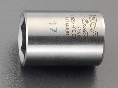 "[EA618TA-12] 3/8"" sqx12mm (チタン合金製) ソケット【キャッシュレス消費者5%還元加盟店】 【個人宅配送不可】[EA618TA-12]「直送」【代引不可・他メーカー同梱不可】 3/8 sqx12mm (チタン合金製) ソケット EA618TA12【キャンセル不可】"