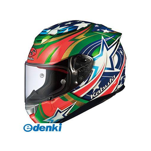OGK KABUTO(オージーケーカブト) [4966094563585] RT-33 ACTIVE STAR グリーン L【送料無料】