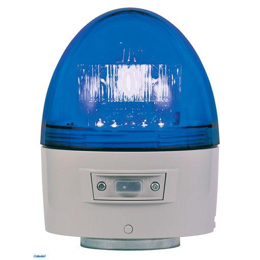 【個数:1個】日恵 [VK11B-003NB] 「直送」【代引不可・他メーカー同梱不可】 電池式高輝度回転灯 φ118 ニコカプセル高輝度 青VK11B003NB