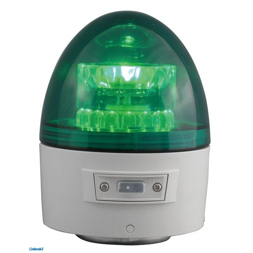 【個数:1個】日恵 [VL11B-003AG/RD] 「直送」【代引不可・他メーカー同梱不可】 無線式・電池式LED回転灯 ニコカプセルΦ118 緑VL11B003AG/RD
