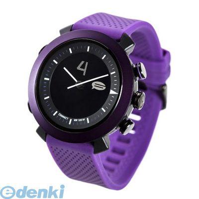 CONNECTEDEVICE 4562187616185 Bluetooth SMART対応アナログ腕時計 COGITO CLASSIC シリコンバンド パープル【送料無料】