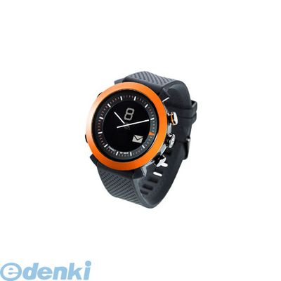 CONNECTEDEVICE 4562187616192 Bluetooth SMART対応アナログ腕時計 COGITO CLASSIC シリコンバンド オレンジ【送料無料】