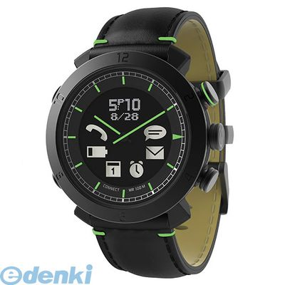 CONNECTEDEVICE 4562187616291 Bluetooth SMART対応アナログ腕時計 COGITO CLASSIC レザー/ナイロンバンド レザー:ブラック【送料無料】