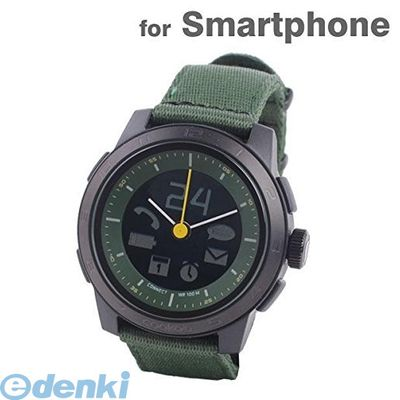 CONNECTEDEVICE 4562187616369 Bluetooth SMART対応アナログ腕時計 COOKOO2 カーキ【送料無料】