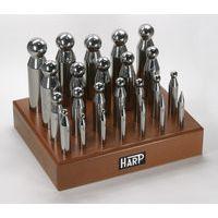 【ポイント最大29倍 3月10日限定 要エントリー】ハープ HARP No.MF11 丸矢坊主〈24本セット〉 彫金 工具 No.MF11