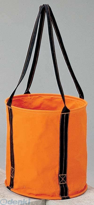 コヅチ(KOZUCHI) [KB-02-45BOR] 6号 オレンジ 防水帆布 大型電工用バケツ直径45cm×高さ45cm KB0245BOR