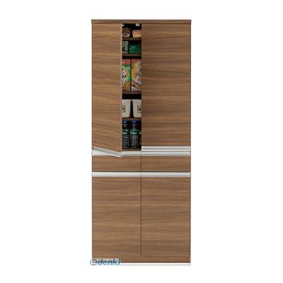 【個数:1個】フナモコ EKD-73T 直送 代引不可・他メーカー同梱不可 キッチンストッカー 【幅73.2×高さ180cm】 リアルウォールナット EKD-73TEKD73T