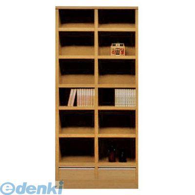 【個数:1個】大川リビング木工社(OKAWA LIVING)[4560463784986] 「直送」【代引不可・他メーカー同梱不可】 オープン書棚90 ムービー NA