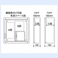 内外電機 Naigai SAC04SMBW 直送 代引不可・他メーカー同梱不可 スペース付電子式警報盤 無電圧接点受用 ASE-4KMBS-A