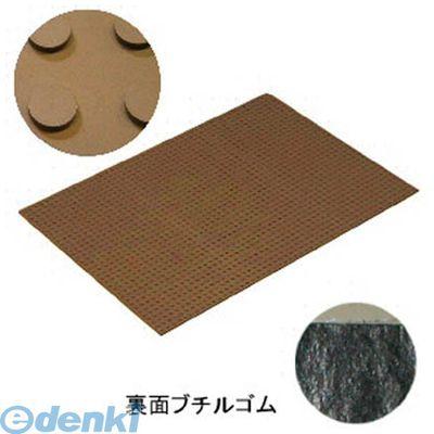 ミヅシマ工業 4900510 消音マット 踊り場BT3 粘着型 710×990mm ブラウン【5セット】