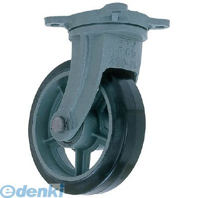 ヨドノ HBG410X65 直送 代引不可・他メーカー同梱不可 鋳物重荷重用ゴム車輪自在車付き HBーg410X65【送料無料】