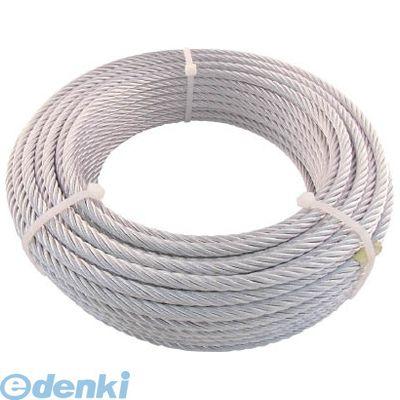 トラスコ中山 JWM9S50 TRUSCO JIS規格品メッキ付ワイヤロープ 【6X24】Φ9mmX50m【送料無料】