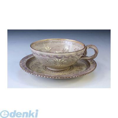 【個数:1個】[CTC512] 「直送」【代引不可・他メーカー同梱不可】 紫彩華紋 紅茶碗皿