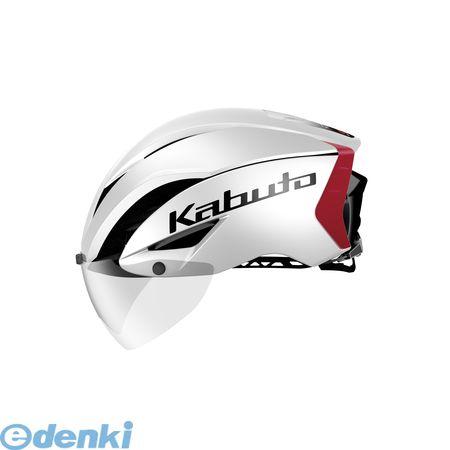 OGK KABUTO(オージーケーカブト)[4966094568290] AERO-R1 ヘルメット パールホワイトレッド-3 S/M【送料無料】