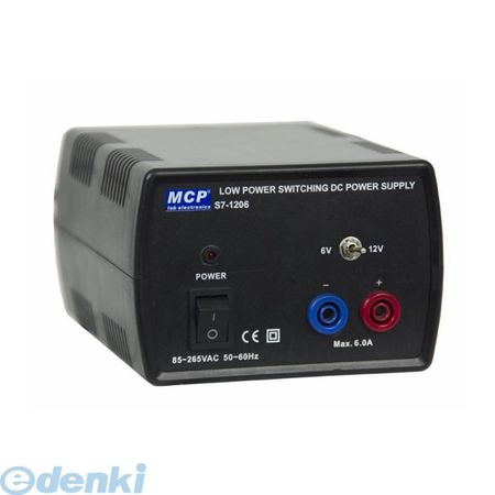 MCP S7-1206 直送 代引不可・他メーカー同梱不可 直流安定化電源 スイッチング方式 6V 12V 6AS71206