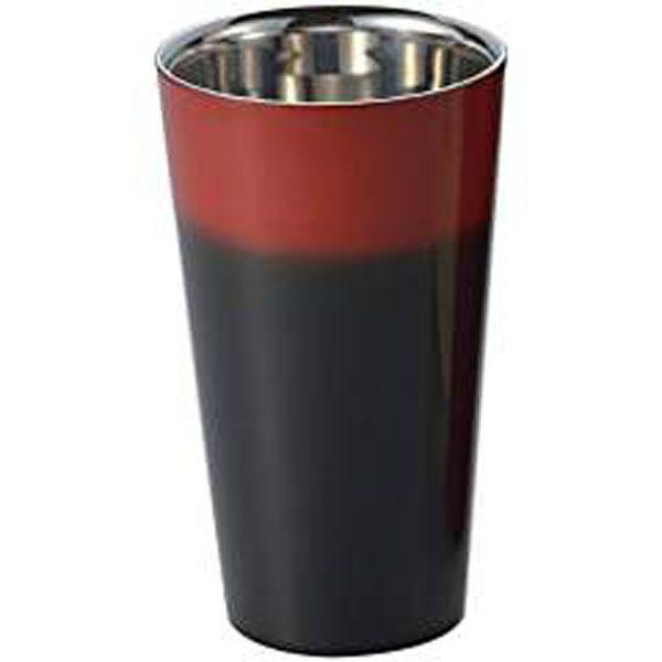 アサヒ 4512553102682 SCW-L601 漆磨 2重構造ストレートカップ【黒彩】