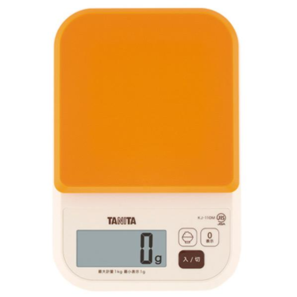 タニタ TANITA KJ-110M-OR デジタルクッキングスケール オレンジ KJ110MOR