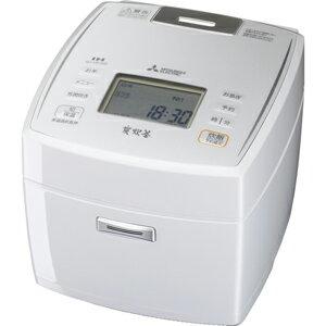 三菱[NJ-VE109-W] IHジャー炊飯器 5.5合炊き 備長炭炭炊釜 ピュアホワイト NJVE109W