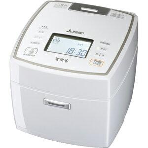 三菱[NJ-VX109-W] IHジャー炊飯器 5.5合炊き ピュアホワイト 備長炭 炭炊釜 NJVX109W