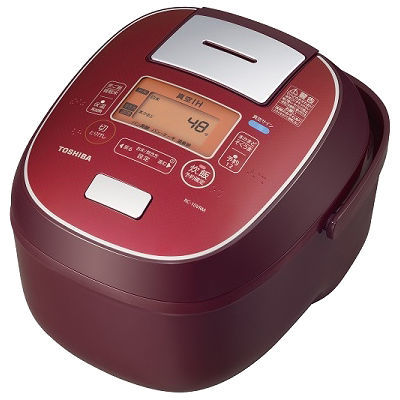 東芝(TOSHIBA)[RC-10VRM-RS] IHジャー炊飯器 5.5合炊き 鍛造かまど銅釜 ディープレッド RC10VRMRS