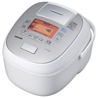 東芝(TOSHIBA)[RC-10VRM-W] IHジャー炊飯器 5.5合炊き 鍛造かまど銅釜 ホワイト RC10VRMW