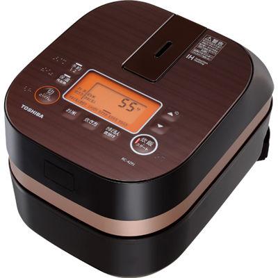 東芝(TOSHIBA)[RC-4ZPJ-T] IHジャー炊飯器 2.5号炊き IHかまど炊飯器 グランブラウン RC4ZPJT