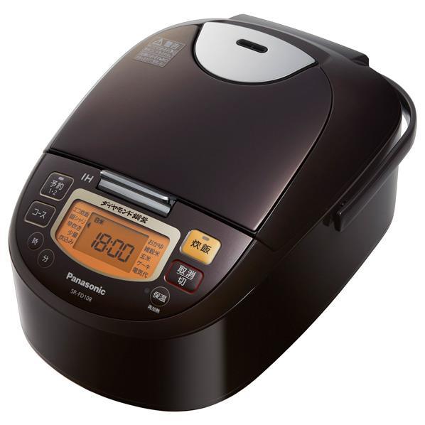 パナソニック[SR-FD108-T] IH炊飯ジャー 5.5合炊き ブラウン 炊飯器 SRFD108T