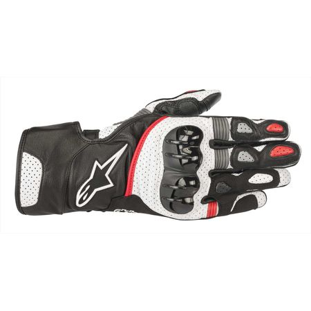 アルパインスターズ(alpinestars)[8033637022284] SP-2 V2 LEATHER GLOVE BLACK WHITE RED XL