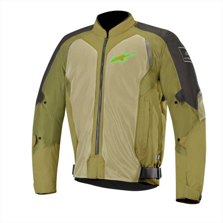 アルパインスターズ alpinestars 8033637029061 WAKE AIR JACKET BLACK OLIVE GREEN GLUO L