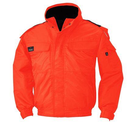 [4532484752367] ECO WORLD 8696 ボウカンジヤケツト 色:オレンジ サイズ:L