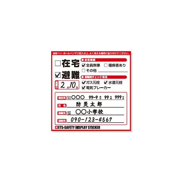 芝本産業[L600228] ETS-SAFETY DISPLAY STICKER マグネットタイプ【100枚】