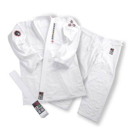 ボディメーカー(BODYMAKER)[4571406250338] ブラジリアン柔術衣 「達磨」 A1.5号 ホワイト KJ001