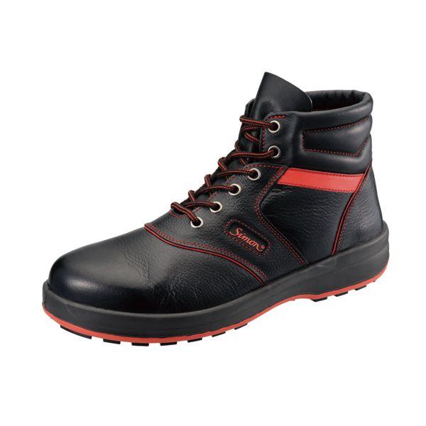 シモン SL22R クロ/アカ250 JIS安全靴 SL22Rクロ/アカ250