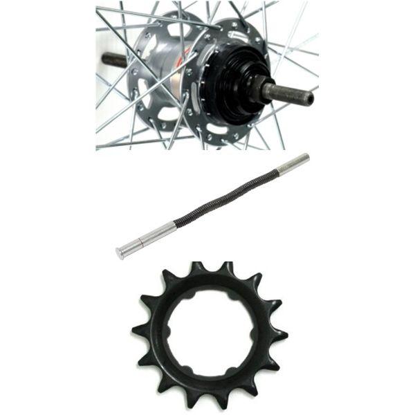 [4938915706778] アサヒサイクル アルミリム後輪 内装3段ローラーブレーキ仕様 タイヤチューブ無 27x1-3/8 HLQ-08