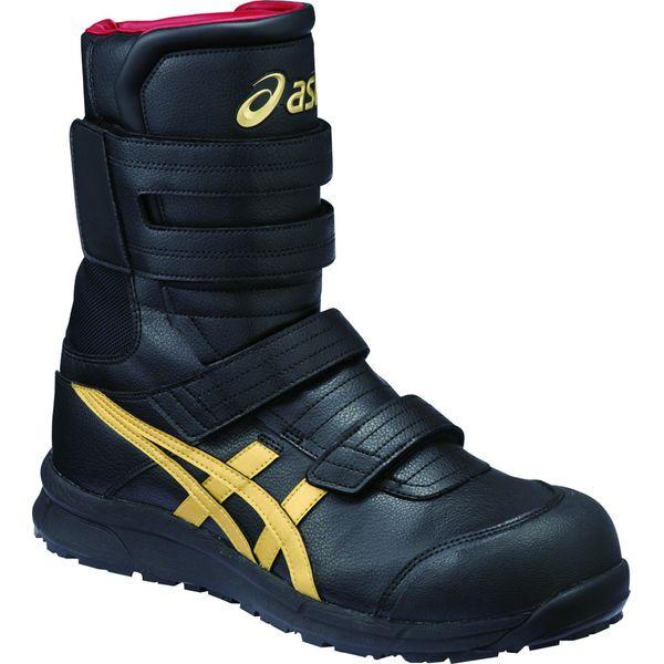 アシックス 4549846336707 FCP401 ウィンジョブ ブラック × ゴールド 25.5cm