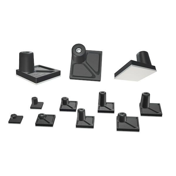 タカチ AST4-20B-P 2セット ナット入り貼付スペーサー AST420BP 直送 50入 他メーカー同梱不可 未使用品 代引不可 1年保証