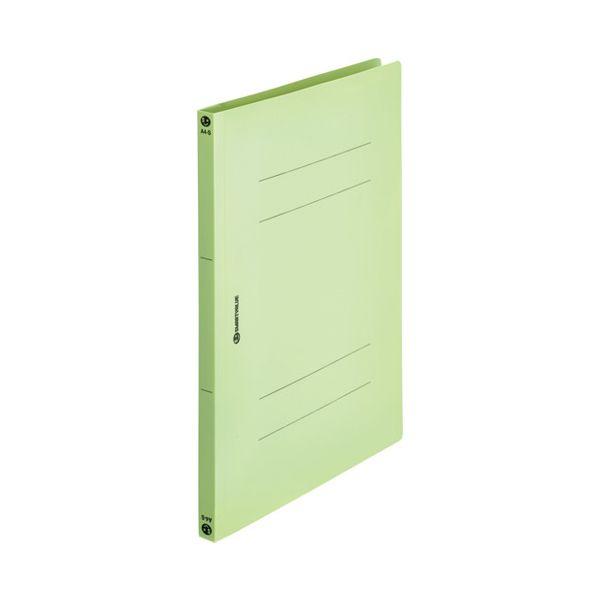 スマートバリュー D023J-12GR PPフラットファイルA4S 緑120冊 D023J12GR